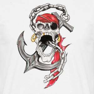 Crane Pirate Tattoo - Men's T-Shirt