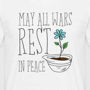 Mogen alle Wars Rest In Peace - Mannen T-shirt