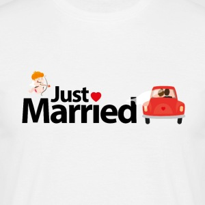 just Married - T-shirt herr