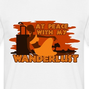 At peace with my wanderlust - Men's T-Shirt