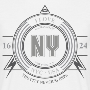 New York Badge - T-skjorte for menn