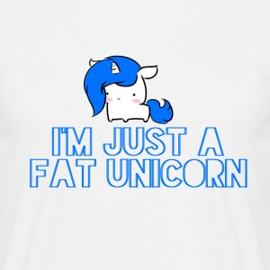 Unicorn - Fat Unicorn - Männer T-Shirt