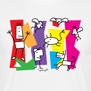 familie-color - Mannen T-shirt
