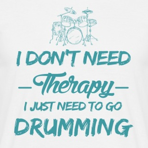 Drums play as a therapy - Men's T-Shirt