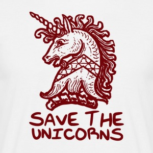 Unicorn - Save The Unicorns - Mannen T-shirt