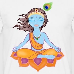 Shree Krishna kunstverk - T-skjorte for menn