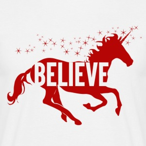 Unicorn - Believe - Mannen T-shirt