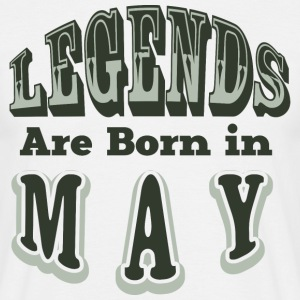 LEGENDS ARE BON IN MAY - Männer T-Shirt