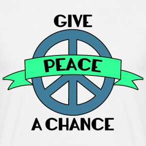 Hippie / Hippies: Give Peace A Chance - Men's T-Shirt