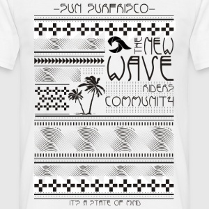 etno surfe print - T-skjorte for menn