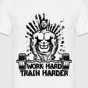 Work Hard / Train Harder - Men's T-Shirt