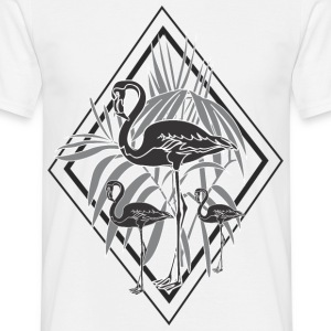 flamants roses noires - T-shirt Homme