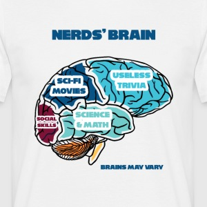 Nerd / Nerds: Nerd's Brain - Men's T-Shirt
