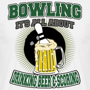 Bowling Beer Et Scoring potable - T-shirt Homme