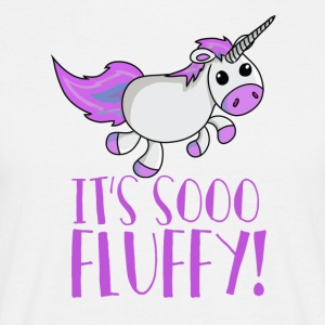 Unicorn - So Fluffy - Zo zacht! - Mannen T-shirt