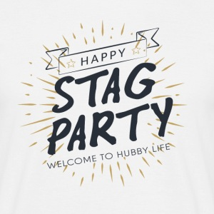 JGA / Junggesellenabschied: Happy Stag Party. - Männer T-Shirt