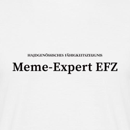 Meme-Expert EFZ - Männer T-Shirt