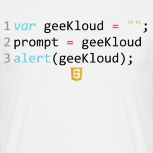 Code JavaScript - GeeKloud - T-shirt Homme