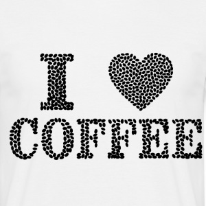 I Love Coffee - T-skjorte for menn