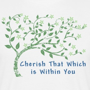 Yoga Cherish That Which Is Within You - Men's T-Shirt