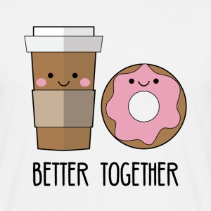 Best friends: Better together - Coffe and Donut - Men's T-Shirt