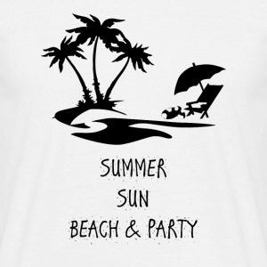 Summer sun beach and party ENGLISH - Men's T-Shirt