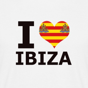 I LOVE ibiza flag - Men's T-Shirt