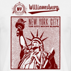 New York · Williamsburg - T-skjorte for menn