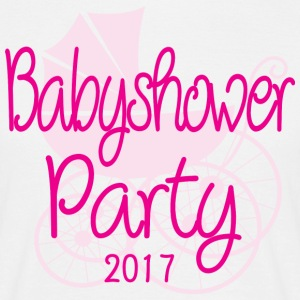 Baby Shower Party 2017 Rose - Miesten t-paita