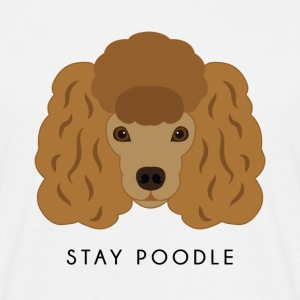 Poodle Brown - Männer T-Shirt