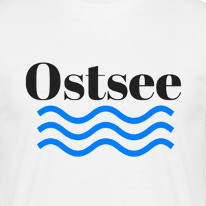 Baltic transparante - Mannen T-shirt