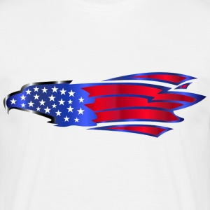 USA Amerika Flag Stars and Stripes Eagle Adler - Herre-T-shirt