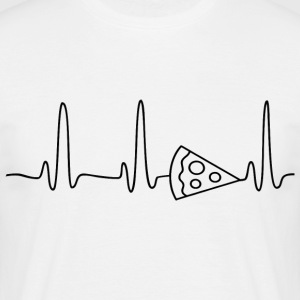 ECG HERZINIE PIZZA black - Men's T-Shirt