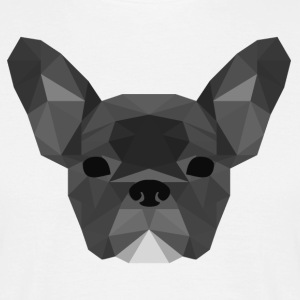 Low Poly Frenchie grijs - Mannen T-shirt