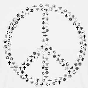 Peace among religions - Men's T-Shirt