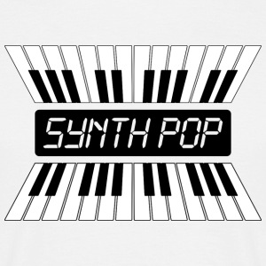 Synthpop MUSIC (2) - T-skjorte for menn