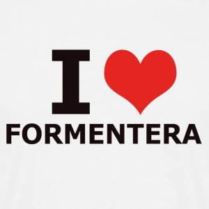 I LOVE FORMENTERA - T-skjorte for menn