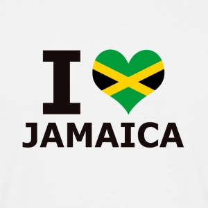 I LOVE JAMAICA FLAG - Mannen T-shirt