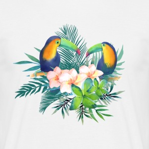 Toucan Tropical Floral - Men's T-Shirt