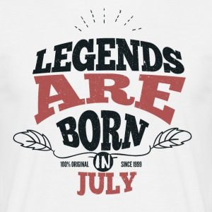 Legends are born in July birthday gift - Men's T-Shirt