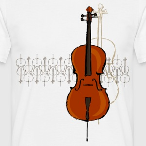 Cello Design 2 sombre - T-shirt Homme