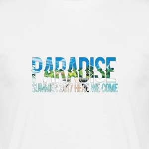 Paradise - Zomer, here we come! - Mannen T-shirt
