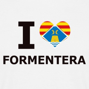 I LOVE FORMENTERA FLAG - T-skjorte for menn