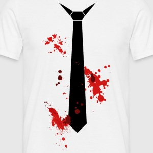 bloody tie - Men's T-Shirt