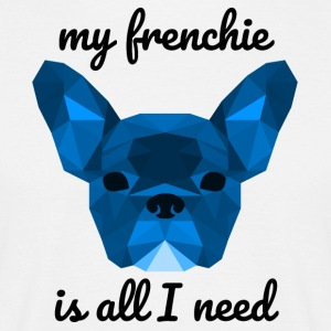 Low Poly Frenchie blue - Men's T-Shirt
