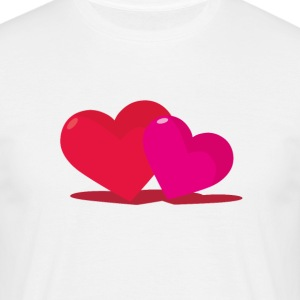 Double heart - Men's T-Shirt