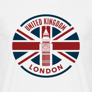 Storbritannia - London - Union Jack Flag - T-skjorte for menn