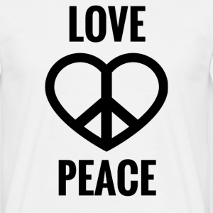 LOVE AND PEACE - Männer T-Shirt