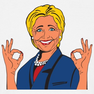 Hillary Clinton - T-skjorte for menn