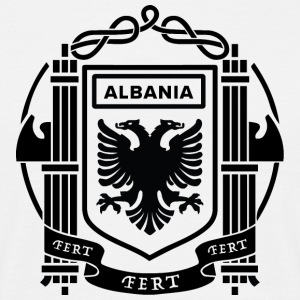 Flagg av Kingdom of Albania 39-43 - T-skjorte for menn